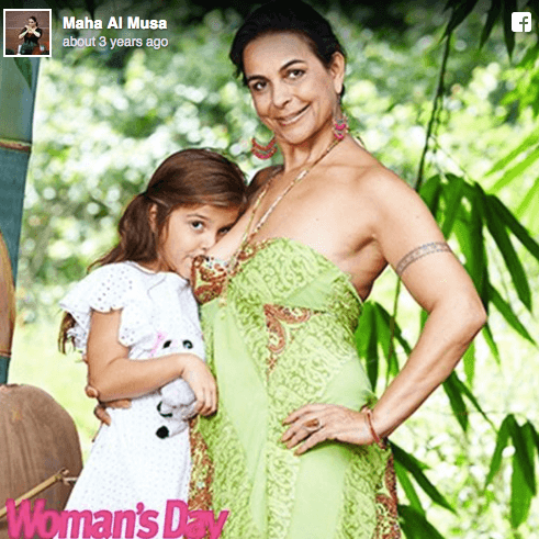 Maha and Aminah on the cover of Woman's Day magazine